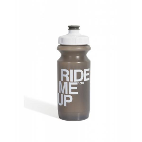 Фляга 0,6 л Green Cycle Ride Me Up серая с белой крышкой