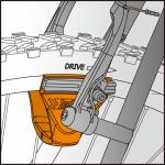 Инструмент ICE TOOLZ 55B1 для быстрой настройки ободных тормозов