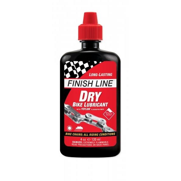 Смазка цепи тефлоновая FINISH LINE Teflon Plus для сухих погодных условий объём 120 мл