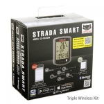 Велокомпьютер Cateye Strada Smart CC-RD500B беспроводной 20+ функций с Bluetooth и датчиками SPD/CD черный