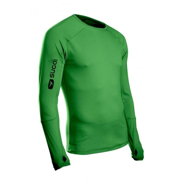 Термофутболка Sugoi Carbon L/S мужская размер XL зеленая