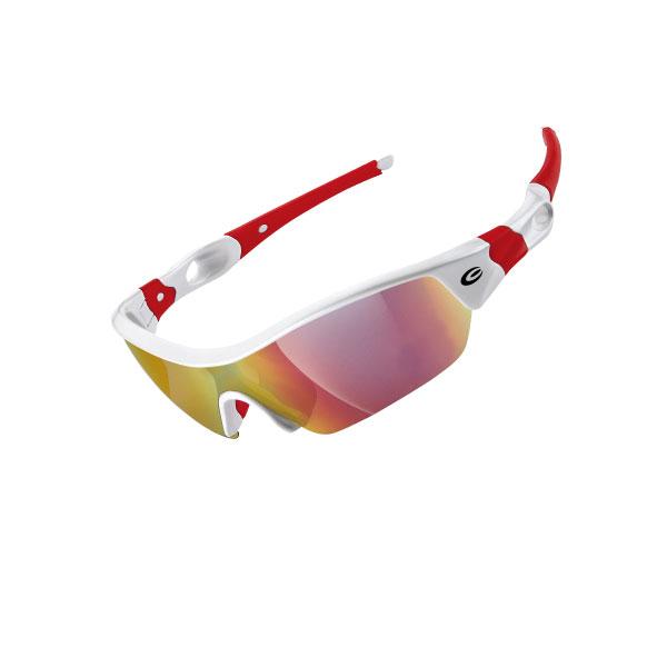 Очки EXUSTAR CSG09-4IN1 четыре сменных монолинзы бело-красные