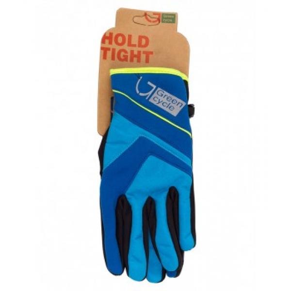 Перчатки ветрозащитные Green Cycle NC-2576-2015 с закрытыми пальцами размер XL синие