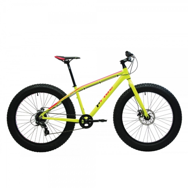 Велосипед фэтбайк 26'' Pride Trophy 1.0 2017 рама - ХL желто-красный глянцевый