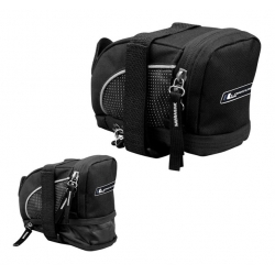 Подседельная сумка Longus COMPAKT 1,7-1,9 л раскладывается застежка velcro черная