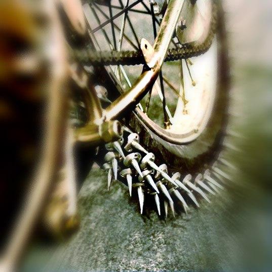 зимняя велорезина